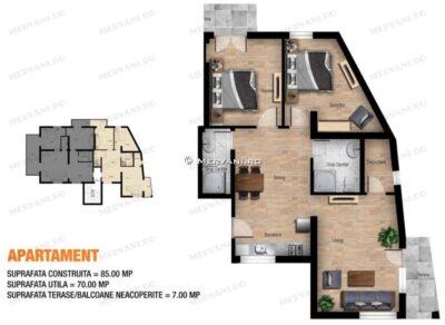 Apartament cu 3 camere de Vanzare in Sinaia, zona Deosebita
